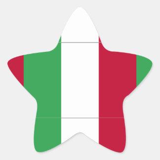 BANDERA ITALIANA PEGATINA EN FORMA DE ESTRELLA
