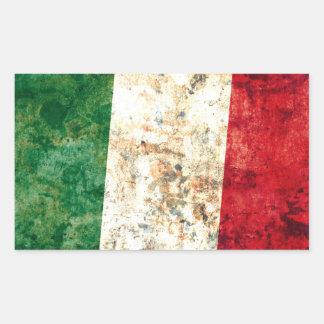 Bandera italiana rectangular pegatinas