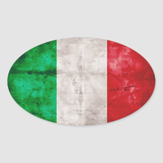 Bandera italiana pegatina ovalada