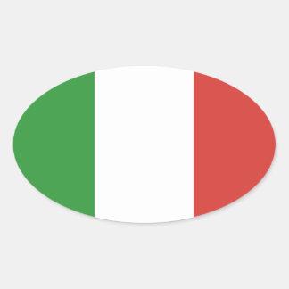 Bandera italiana calcomanías óvales personalizadas