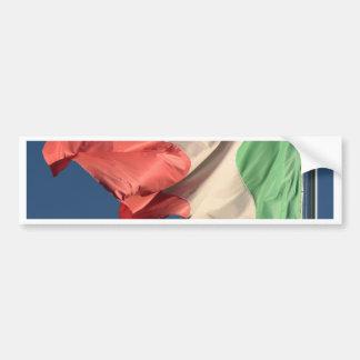 bandera italiana pegatina para auto