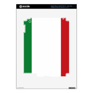 Bandera italiana pegatina skin para iPad 3