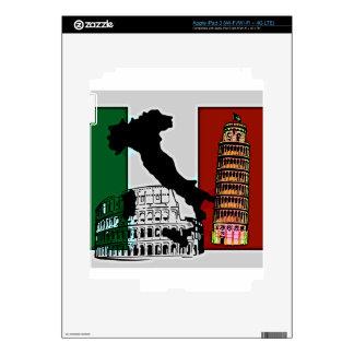 Bandera italiana pegatinas skins para iPad 3