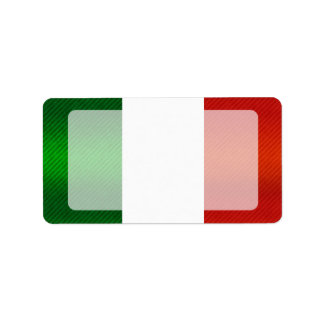 Bandera italiana pelada moderna etiquetas de dirección