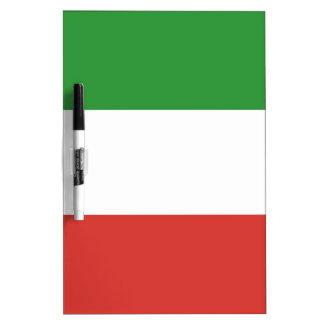 Bandera italiana pizarras blancas