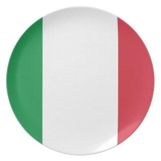Bandera italiana platos de comidas