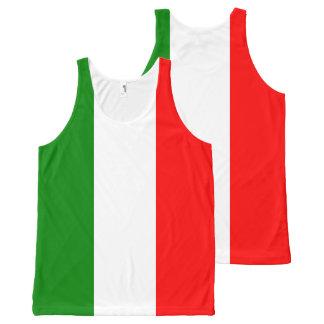 Bandera italiana por todo las camisetas sin mangas