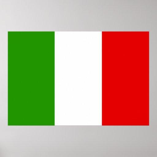Bandera italiana poster