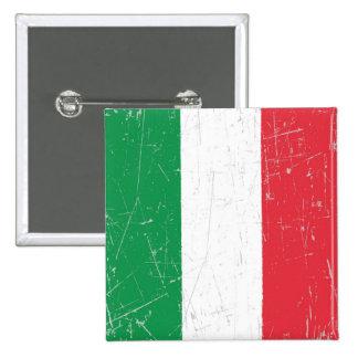 Bandera italiana rascada y rasguñada