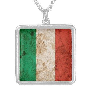 Bandera italiana rugosa pendientes personalizados