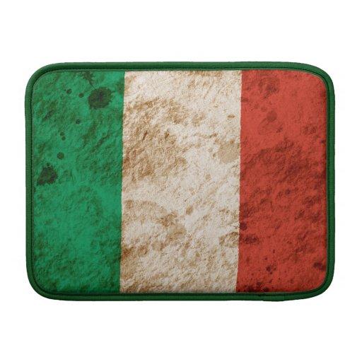 Bandera italiana rugosa funda  MacBook