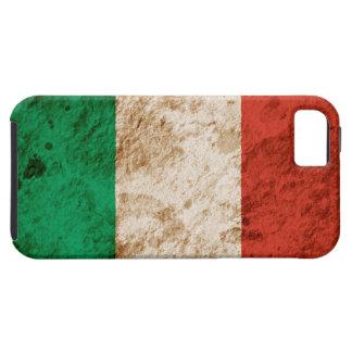 Bandera italiana rugosa iPhone 5 fundas