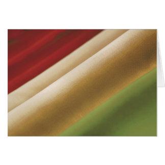 Bandera italiana tarjeta de felicitación