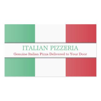 Bandera italiana, tarjeta de visita completamente