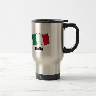 Bandera italiana tazas de café