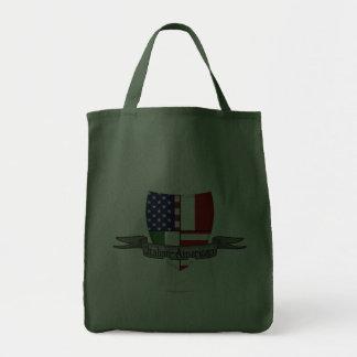 Bandera Italiano-Americana del escudo Bolsa