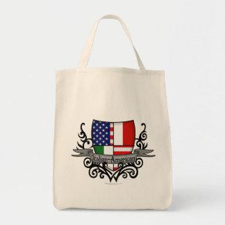 Bandera Italiano-Americana del escudo Bolsas