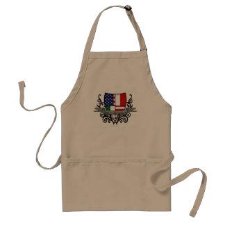Bandera Italiano-Americana del escudo Delantal