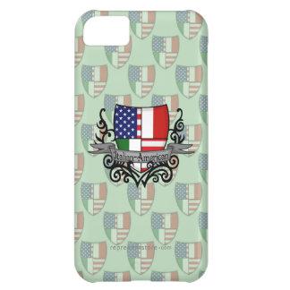 Bandera Italiano-Americana del escudo Funda Para iPhone 5C
