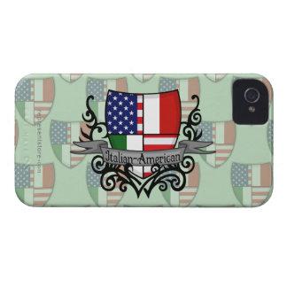 Bandera Italiano-Americana del escudo Case-Mate iPhone 4 Fundas