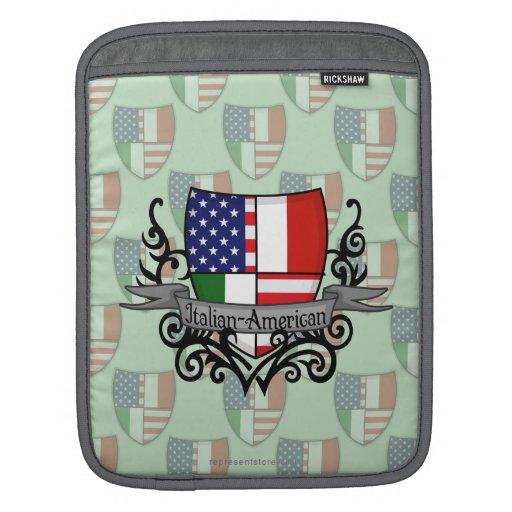 Bandera Italiano-Americana del escudo Mangas De iPad