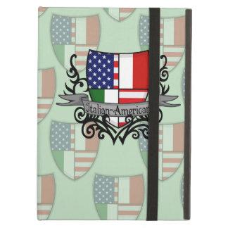 Bandera Italiano-Americana del escudo