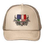 Bandera Italiano-Americana del escudo Gorros Bordados