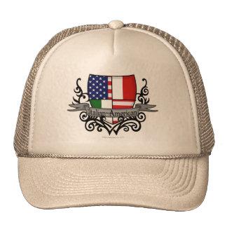Bandera Italiano-Americana del escudo Gorra