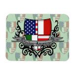 Bandera Italiano-Americana del escudo Imán Rectangular