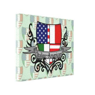 Bandera Italiano-Americana del escudo Lona Estirada Galerías