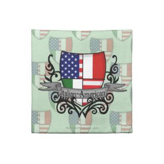 Bandera Italiano-Americana del escudo Servilletas Imprimidas