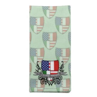 Bandera Italiano-Americana del escudo Servilleta De Papel