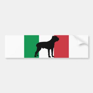 bandera Italy.png de la silueta del corso del Pegatina Para Auto