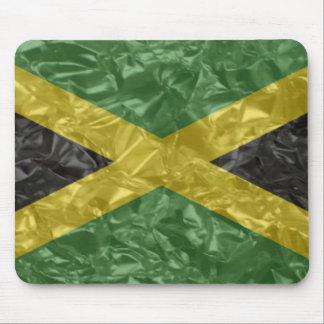 Bandera jamaicana - arrugada alfombrilla de ratones