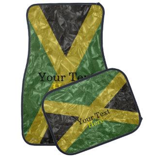 Bandera jamaicana - arrugada alfombrilla de coche