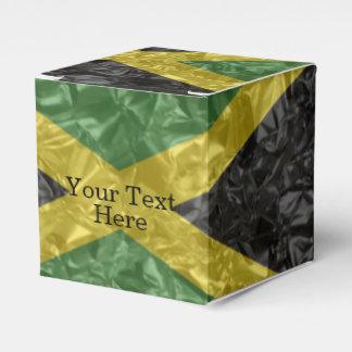 Bandera jamaicana - arrugada cajas para detalles de boda