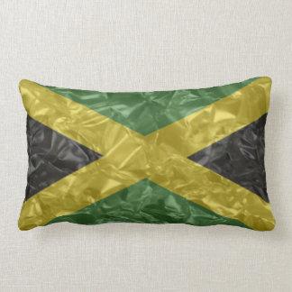 Bandera jamaicana - arrugada cojin