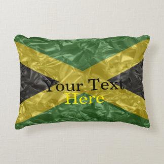 Bandera jamaicana - arrugada cojín decorativo
