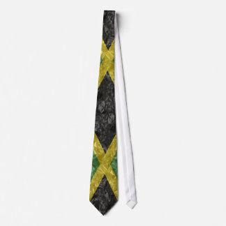 Bandera jamaicana - arrugada corbata personalizada