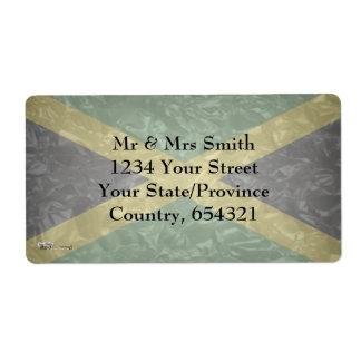 Bandera jamaicana - arrugada etiquetas de envío