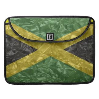 Bandera jamaicana - arrugada funda para macbook pro