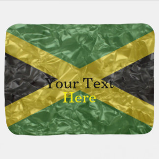 Bandera jamaicana - arrugada manta de bebé