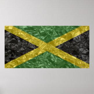 Bandera jamaicana - arrugada poster