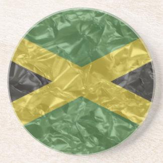 Bandera jamaicana - arrugada posavasos diseño