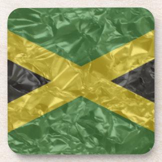 Bandera jamaicana - arrugada posavasos de bebida