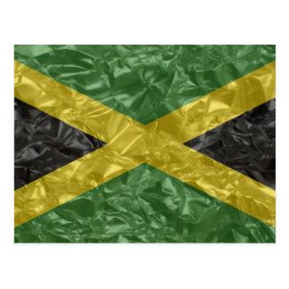 Bandera jamaicana - arrugada postales