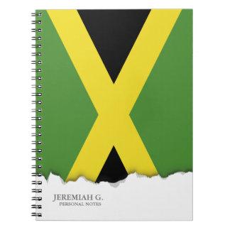 Bandera jamaicana clásica libreta espiral