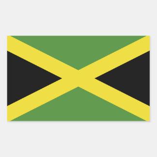 Bandera jamaicana clásica pegatina rectangular