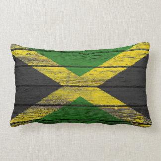 Bandera jamaicana con efecto de madera áspero del  cojines