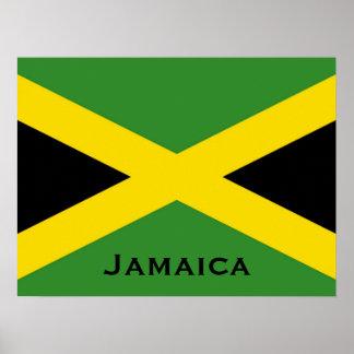 Bandera jamaicana con las banderas del mundo de la posters
